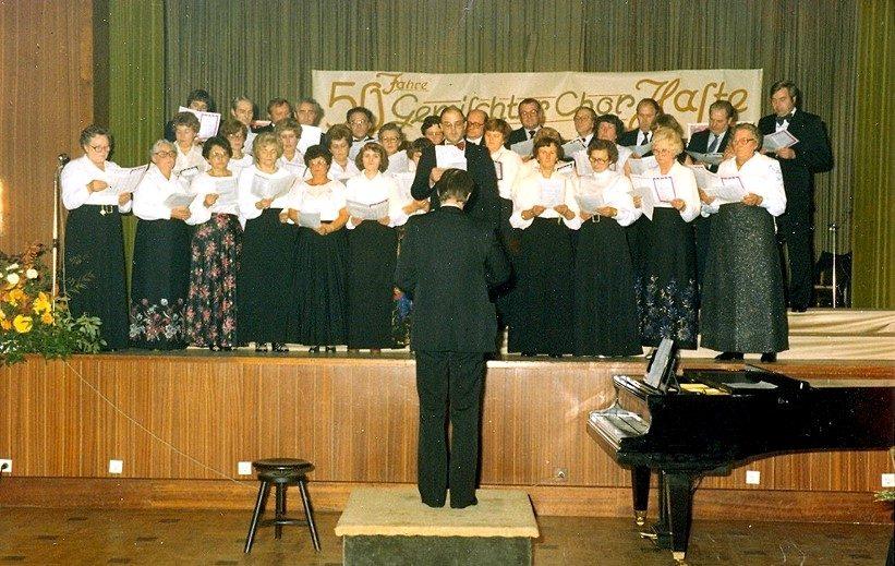 1980 - Freundschaftsbesuch beim Gemischten Chor Haste