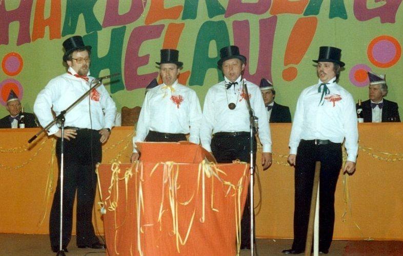 1981 - ein Auftritt auf dem Harderberger Karneval gehört immer dazu