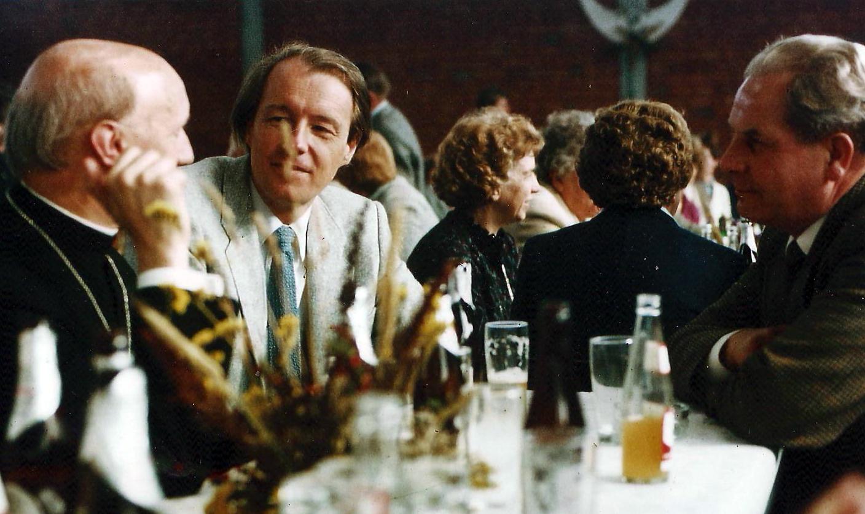 1982 - 30 Jahre Gemischter Chor Harderberg. Jo Meiner mit Pastor Holtmann