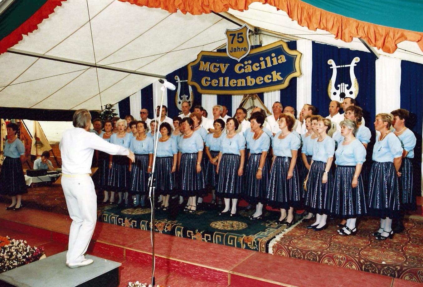 1986 - Freundschaftsingen beim MGV Cäcilia Gellenbeck