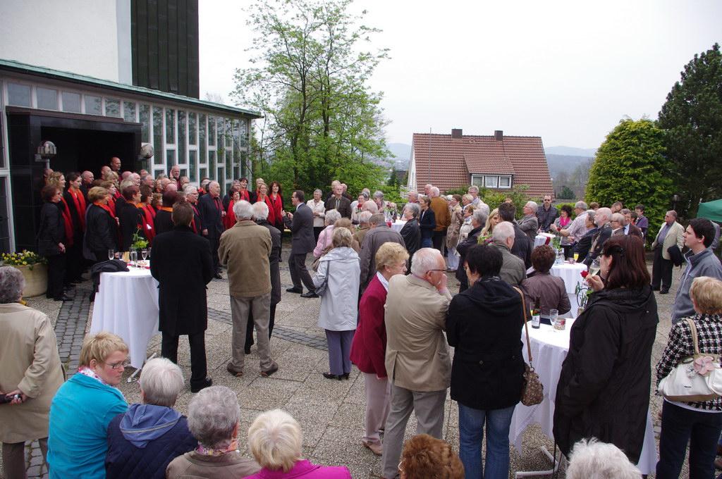 2012 - Empfang zum 60. Jubiläum unseres Chores