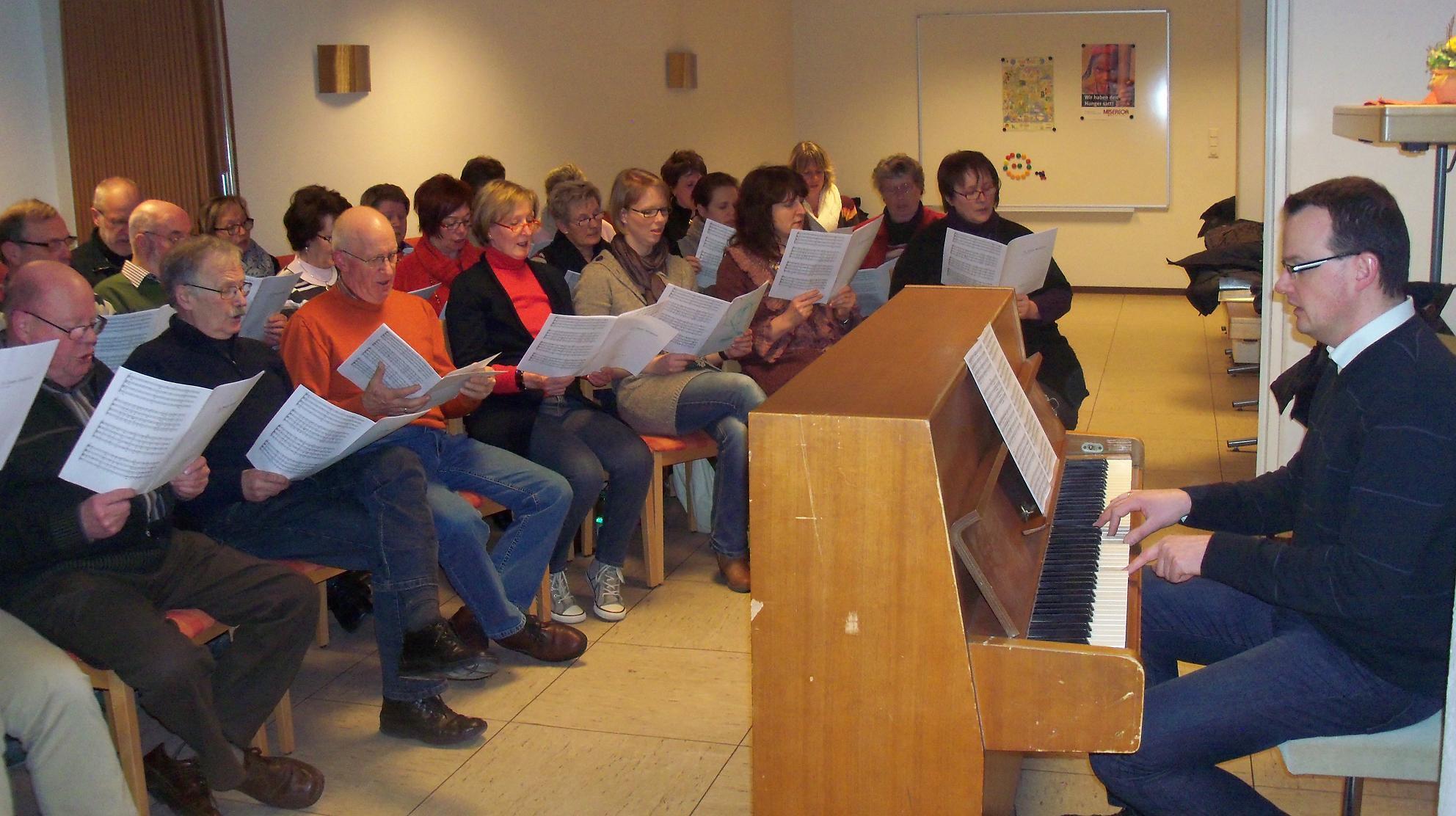 2010 - Umzug der Proben in den Pfarrsaal St. Maria Frieden